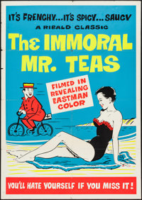 "The Immoral Mr. Teas (Pad-Ram Enterprises, 1959). Silk Screen Day-Glo Poster (30"" X 42.5""). Sexploitation"