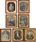 Photography:Daguerreotypes, Group of Early Sixth Plate Daguerreotypes.... (Total: 6 Items)