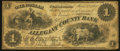 Obsoletes By State:Maryland, Cumberland, MD-Allegany County Bank $1 June 1, 1861 G2a. ...