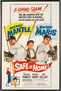 "Baseball Collectibles:Others, 1962 Mickey Mantle & Roger Maris Signed ""Safe At Home!"" OneSheet Movie Poster...."