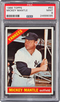 Baseball Cards:Singles (1960-1969), 1966 Topps Mickey Mantle #50 PSA Mint 9....