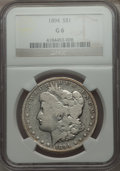 Morgan Dollars: , 1894 $1 Good 6 NGC. NGC Census: (67/3349). PCGS Population (95/4729). Mintage: 110,972. Numismedia Wsl. Price for problem f...