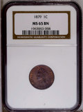 Indian Cents: , 1879 1C MS65 Brown NGC. NGC Census: (47/5). PCGS Population(3/0).Mintage: 16,231,200. Numismedia Wsl. Price: $188. (#2133)...