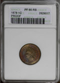 Proof Indian Cents: , 1878 1C PR65 Red and Brown ANACS. NGC Census: (55/6). PCGS Population (43/3).Mintage: 2,350. Numismedia Wsl. Price: $420. (...