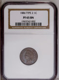 Proof Indian Cents: , 1886 1C Type Two PR65 Brown NGC. PCGS Population (8/2). Numismedia Wsl. Price: $675. (#92345)...