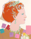 Post-War & Contemporary:Pop, Andy Warhol (American, 1928-1987). Queen Margrethe II (fromReigning Queens), 1985. Screenprint in colors on Lenox M...