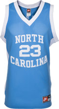 Basketball Collectibles:Uniforms, 1990's Michael Jordan Signed Upper Deck Authenticated University ofNorth Carolina Jersey. ...