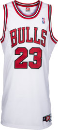 Basketball Collectibles:Uniforms, 1997-98 Michael Jordan Signed Upper Deck Authenticated Jersey. ...