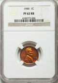 Proof Sets, 1940 Proof Set NGC. This Set Includes the 1C PR62 Red and Brown, 5C Reverse Of 1940 PR65, 10C PR66, 25C PR64 and 50C -- Obvers... (Total: 5 coins)