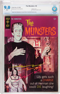 Munsters #2 (Gold Key, 1965) CBCS VF/NM 9.0 White pages