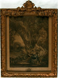 Books:Prints & Leaves, François Boucher, French artist (1703 - 1770). FramedEighteenth-Century Engraving with Hand-Coloring Entitled LaChasse...