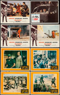 "Movie Posters:War, The Green Berets & Others Lot (Warner Brothers, 1968). LobbyCards (7) (11"" X 14""), Mexican Lobby Card (11"" X 13.75""), &Unc... (Total: 9 Item)"
