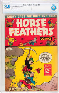 Horse Feathers Comics #1 (Lev Gleason, 1947) CBCS VF 8.0 Off-white to white pages