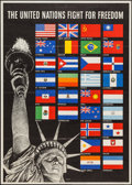 "Movie Posters:War, World War II Propaganda (U.S. Government Printing Office, 1942).Propaganda Poster (28.5"" X 40"") ""The United Nations Fight f..."