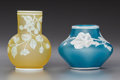 Art Glass:Webb, Two Thomas Webb-Style Overlay Glass Floral Vases. Circa 1890.Stamped THOMAS, WEBB & SONS, CAMEO. Ht. 4-1/2 in. (taller). ...(Total: 2 Items)