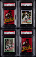 Baseball Cards:Unopened Packs/Display Boxes, 1978 Topps Baseball PSA Graded Unopened Cello/Wax Pack Collection(4)....