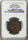 Proof Seated Half Dollars: , 1864 50C -- Artificial Toning -- NGC Details. Proof. NGC Census: (0/122). PCGS Population (0/160). Mintage: 470. Numismedia...