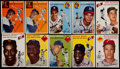 Baseball Cards:Lots, 1954 Topps Baseball Collection With Stars, Robinson, Mays, Williams(74)....