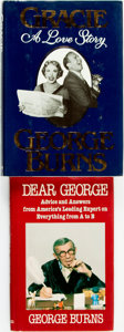 Books:Biography & Memoir, George Burns. TWO INSCRIBED First Editions. New York: G.P. Putnam'sSons, 1985, 1988. . ... (Total: 2 Items)