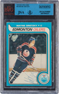 Autographs:Sports Cards, Signed 1979 O-Pee-Chee Wayne Gretzky #18 BVG/JSA Authentic. ...