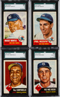 Baseball Cards:Sets, 1953 Topps Baseball #'s 1-220 Complete Low Numbers Run (220). ...