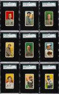 Baseball Cards:Sets, 1909-11 T206 Sovereign Partial Set (297) Including All 4 Cobbs! ...