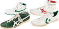 Basketball Collectibles:Others, 1980s NBA Legends Game Worn, Signed Sneakers Lot of 4....