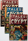 Golden Age (1938-1955):Horror, Tales From the Crypt Group of 5 (EC, 1953-54) Condition: AverageVG-.... (Total: 5 Comic Books)