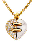 Estate Jewelry:Necklaces, Diamond, Gold Pendant-Necklace, Bvlgari. ...