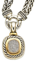 Estate Jewelry:Necklaces, Diamond, Gold, Sterling Silver Pendant-Necklace, David Yurman. ...