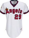 Baseball Collectibles:Uniforms, 1985 Rod Carew Game Worn California Angels Jersey. ...