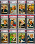 Non-Sport Cards:Sets, 1956 Topps U.S. Presidents High Grade Complete Set (36). ...