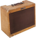 Musical Instruments:Amplifiers, PA, & Effects, 1960 Fender Deluxe Tweed Guitar Amplifier, Serial # D08973....