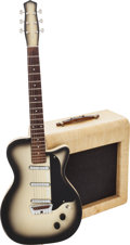 Musical Instruments:Electric Guitars, 1958 Danelectro U3 CremeBurst Solid Body Electric Guitar andDanelectro Model 15A Pioneer Guitar Amplifier.... (Total: 2 Items)