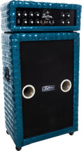 Musical Instruments:Amplifiers, PA, & Effects, Circa 1968 Kustom K-200 Blue Sparkle Guitar Amplifier.... (Total: 2Items)