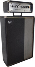 Musical Instruments:Amplifiers, PA, & Effects, Circa 1970 Guild ThunderBass Black Guitar Amplifier, Serial #6409.... (Total: 2 Items)