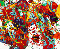 Sam Francis (1923-1994) Untitled, 1994 Acrylic on canvas 15 x 18 inches (38.1 x 45.7 cm) Dated