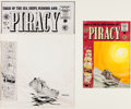 Original Comic Art:Covers, Bernard Krigstein Piracy #6 Cover and Color Guide OriginalArt Group of 2 (EC, 1955)....