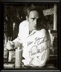 Autographs:Celebrities, [Film]. Framed INSCRIBED Photograph of Actor Charlton Heston....