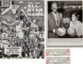 Basketball Collectibles:Others, 1971 NBA vs. ABA All-Star Game Full Tickets (2) & Program....