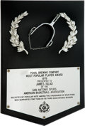 Basketball Collectibles:Others, 1976 James Silas San Antonio Spurs Most Popular Player Award....