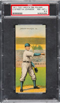 Baseball Cards:Singles (Pre-1930), 1911 T201 Mecca Double Folders Street/Johnson PSA NM-MT+ 8.5 - PopOne, Highest Graded Example! ...