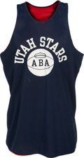Basketball Collectibles:Uniforms, 1974-75 Moses Malone Game Worn Utah Stars (ABA) Rookie PracticeJersey....