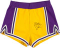 "Basketball Collectibles:Uniforms, Early 1980's Earvin ""Magic"" Johnson Game Worn Los Angeles LakersShorts...."