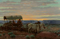 Paintings, Joe Beeler (American, 1931-2006). Return to Trading Post. Oil on canvas. 20 x 30 inches (50.8 x 76.2 cm). Signed lower r...