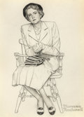 Fine Art - Work on Paper:Drawing, Norman Rockwell (American, 1894-1978). Don't Worry Mary(Portrait of Mary Schafer), Smith-Kline: Dexamyl Advertisement,...