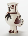 Post-War & Contemporary:Sculpture, Pablo Picasso (Spanish, 1881-1973). Chouette aux taches,1951. Glazed ceramic vase with enamel. 11-1/4 inches (28.7 cm) ...