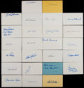 Baseball Collectibles:Others, Baseball Greats Signed Index Cards Lot of 25....