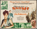 "Movie Posters:Adventure, Drums (Film Classics, R-1948). Trimmed Half Sheet (20.5"" X 26.75"").Adventure.. ..."