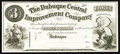 Obsoletes By State:Iowa, Dubuque, IA- Dubuque Central Improvement Company $3 18__ Oakes UNL Proof. ...